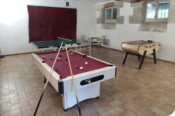 Château de Châtenay séminaire au vert à 30 min de Paris salle de jeux